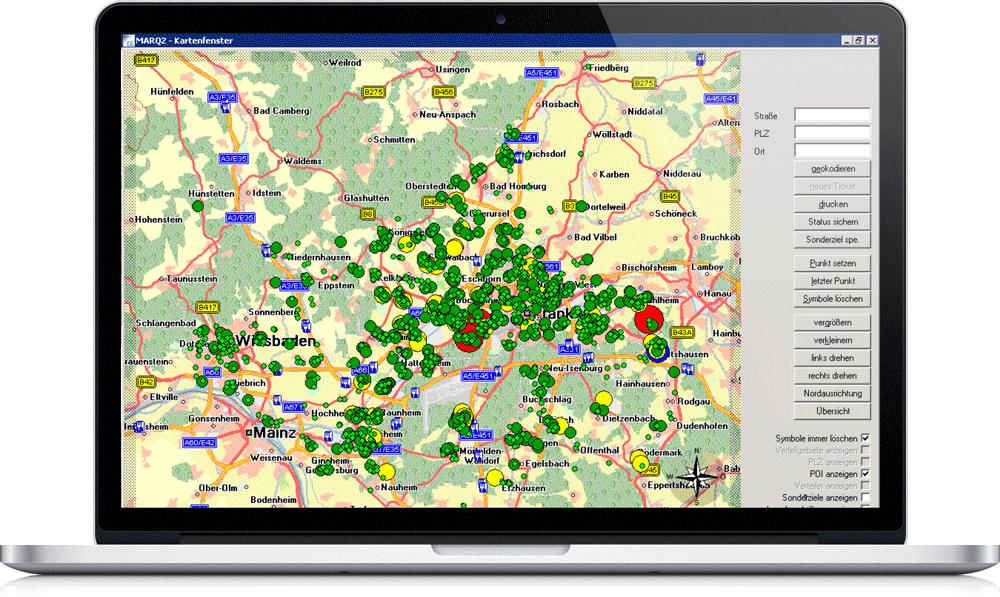 MARQ2 – Expertensystem für professionelles Reklamations- und Qualitätsmanagement in der Printmedienlogistik – Karten