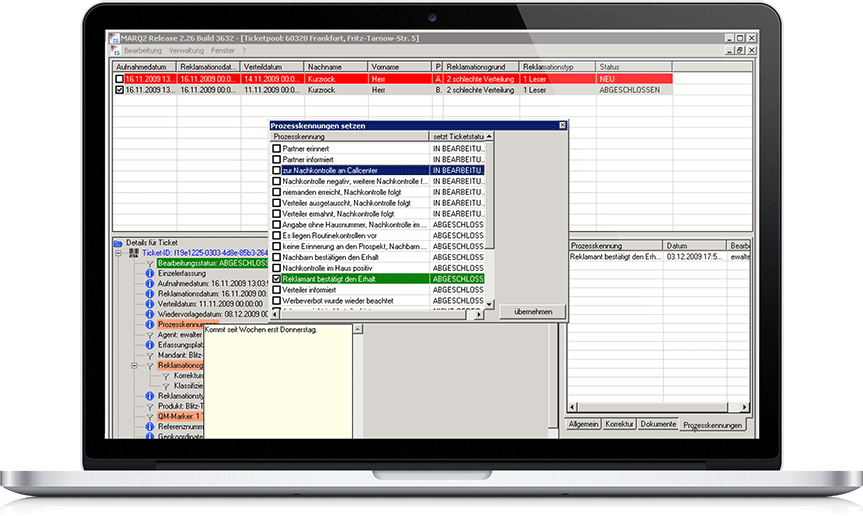 MARQ2 Prozesskennungen – Expertensystem für professionelles Reklamations- und Qualitätsmanagement in der Printmedienlogistik